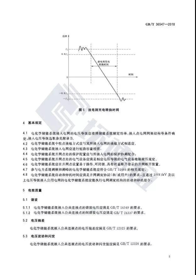 【规范图书馆】电化学储能系统接入电网技术规定