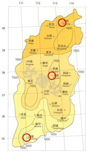 山西省南北辐射差多少?